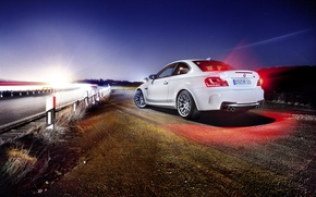 Picture road, light, BMW, back, BMW 1M