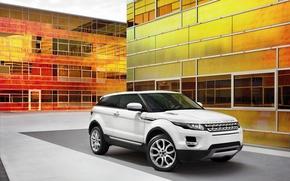Picture white, SUV, Range Rover, Evoque 2011