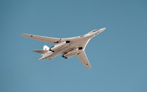 Picture bomber, The Tu-160, strategic bomber-missile carrier, supersonic, Pavel Taran