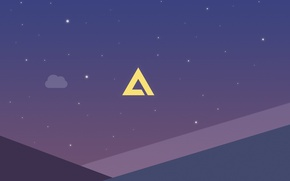 Picture Logo, Wallpaper, AIMP, Minimalism, Artem Izmaylov Media Player, Polygon Night
