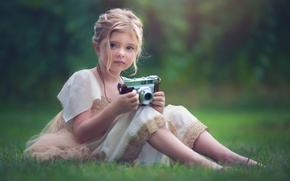 Wallpaper girl, look, mood, the camera