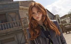 Picture girl, actress, red, the series, Doctor Who, Doctor Who, Karen Gillan, Karen Gillan
