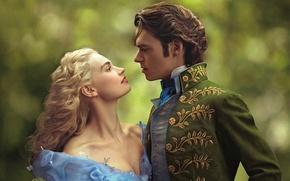 Picture tale, fantasy, blonde, Prince, Cinderella, Cinderella, Lily James, Lily James, Richard Madden, Prince Charming, Richard ...