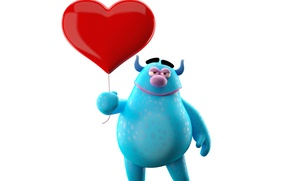 Picture character, monster, heart, funny, cute
