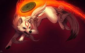 Picture fire, flame, wolf, art, falvie art