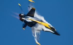 Picture aviation, the plane, smoke, Hornet, F-18