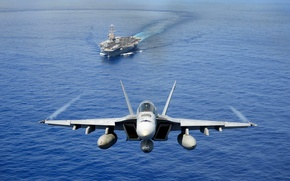 Picture weapons, the carrier, the plane