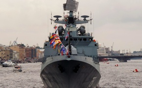 """Picture holiday, ship, Navy, Frigate, Neva, guard, """"Admiral Essen"""""""