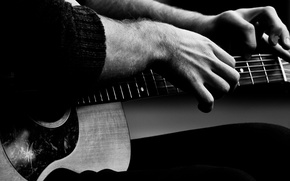 Picture guitar, fingers, musician