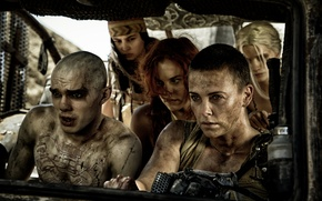 Picture Riley Keogh, frame, Riley Keough, Charlize Theron, postapokalipsis, Mad Max: fury Road, Nicholas Hoult, Nicholas ...