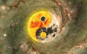 Picture background, symbol, harmony, Yin-Yang