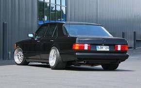 Picture black, mercedes-benz, w126