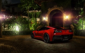 Picture red, z06, rechange, chevrolet corvette, hq Wallpapers