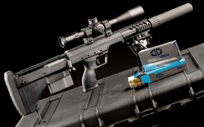 Wallpaper weapons, optics, muffler, sniper rifle, fry