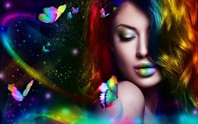 Picture colorful, beauty, lovely, butterflies