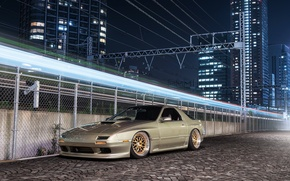 Picture tuning, light, turbo, wheels, gold, drives, mazda, japan, jdm, rx7, tuning, front, Mazda, dub, stance, …
