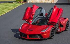 Picture red, Ferrari, sports car, Ferrari LaFerrari, LaFerrari