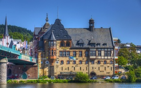 Wallpaper the city, photo, home, Germany, река Traben-Trarbach