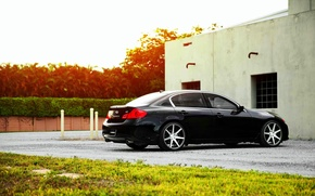 Picture Infiniti, wheels, black, vossen, Sedan, G37