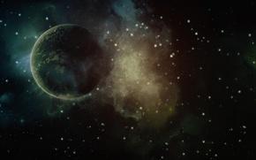 Picture stars, planet, universe, paint, space, galaxy, galaxy, planet, the universe, colors, 1920x1200, space, stars