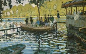 Picture landscape, people, picture, Claude Monet, genre, The Grenouillere