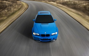 Picture road, blue, bmw, BMW, speed, road, blue, speed, headlights, e46, toned