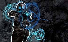 Picture mask, machine, strike, Counter-Strike, contra