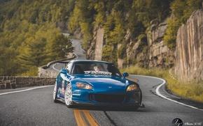 Picture wheels, honda, japan, Honda, blue, jdm, tuning, front, face, stance, s2000, vtec