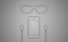 Picture iPhone, monster beats, rayban