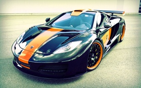Picture machine, strip, McLaren, orange, black, Hamann, MP4-12C, memoR