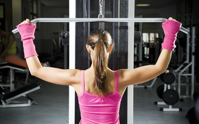 Picture machine, back, workout, gym