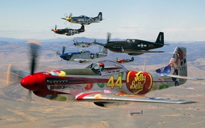 Picture the plane, landscape, fighter, airbrushing, pilot, flight, the sky, parade