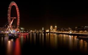 Wallpaper Wheel, London, River