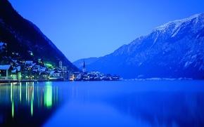 Wallpaper Lights, Night, Lake