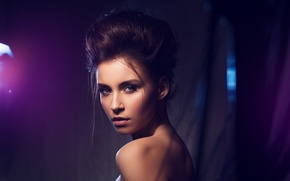 Picture Girl, Light, Beautiful, Model, Blue, Style, Beauty, Eyes, Face, Lips, Fashion, Glamour, Make-Up