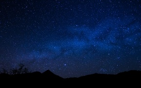 Picture space, stars, night, horizon, the milky way