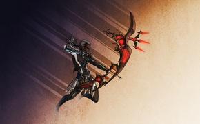 Wallpaper Archer, fantasy, bow, arrows, dark elf, elf, warrior