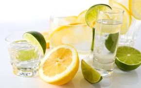 Picture lemon, lime, drink