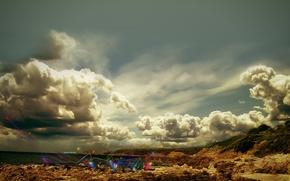 Wallpaper the sky, desert, landscape