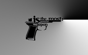 Picture style, weapons, the inscription, Gun