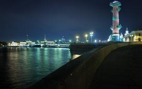 Picture night, lights, Peter, Saint Petersburg