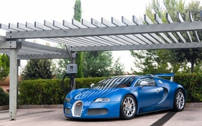 Picture Bugatti, Grand, Veyron, blue, Sport