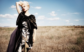 Wallpaper Jan Welters, nature, blonde, grass, Gwen Stefani, InStyle, singer, hairstyle, field, photoshoot, Gwen Stefani, dress, ...