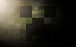 Picture the game, minecraft, creeper, mob