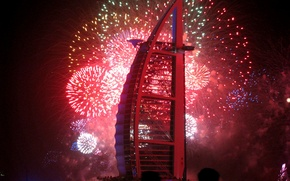Picture Dubai, Dubai, night, UAE, firework, United Arab Emirates, Burj Al Arab hotel