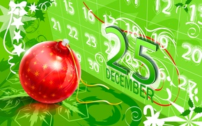 Wallpaper vector, ball, Christmas, calendar, postcard