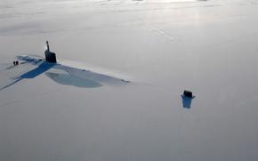 Wallpaper ice, the ocean, submarine