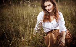 Picture girl, nature, beauty