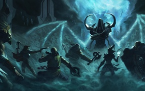 Picture Diablo 3, demon hunter, monk, Witch Doctor, crusader, Barbarian, Wizard, Malthael, reaper of souls