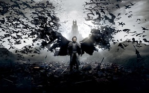 Picture Action, Dracula, Wings, Vampire, Cloak, Drama, Sword, Horror, 2014, Luke Evans, Wallpaper, Fantasy, Universal Pictures, ...